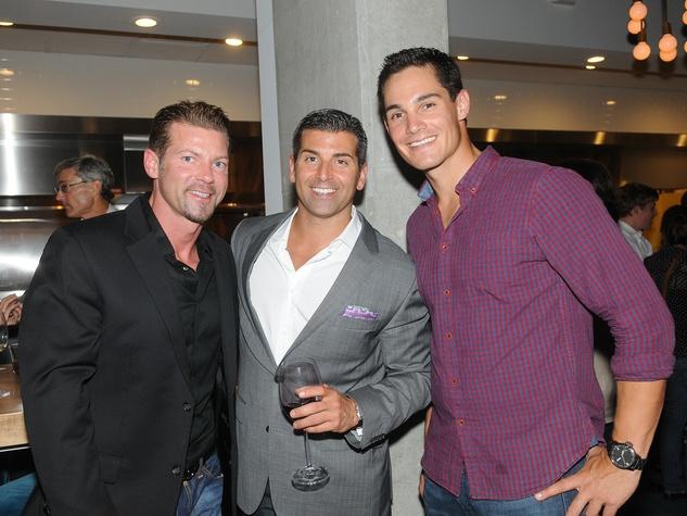 28 Coppa Osteria party September 2013 Shawn Fox, Scott Angelico, Ryne Reynoso