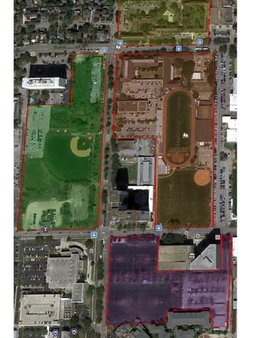 St. John's campus map aerial