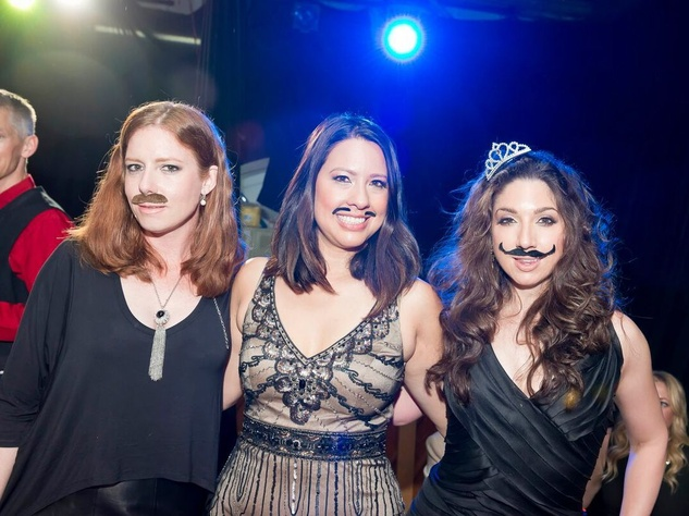 Catastrophic Theatre Drag Ball 2015 Bonnie Bowes, Anika Jackson, Jill Schull