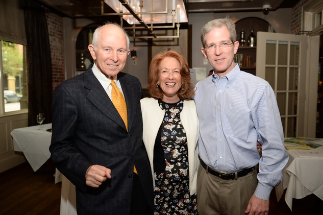 2 Alexander Dell, from left, Sheila Aron and Ronnie Lipman at The Thread Alliance Blue Plate Special kick off April 2015