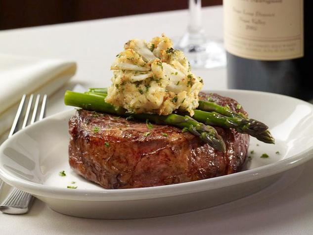 Ruth's Chris Houston steak cutting July 2013 ribeye Oscar