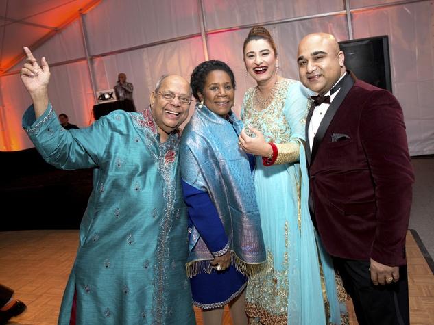 Houston, Tiger Ball, March 2017, Nat Krishnamurthy, congresswoman Sheila Jackson Lee, gala guest