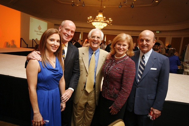 38 Nancy Calles, from left, Dr. Mark Kline, Scott Basinger, Jan Duncan and Don Faust at the Texas Children's Hospital Celebration of Champions luncheon October 2014