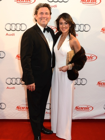 Jared Lang and Maryam Afshari  at the Audi Central Houston grand opening March 2014