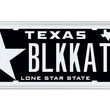 No. 1 top 10 Texas license plates 2013 LSBlack-BLKKAT