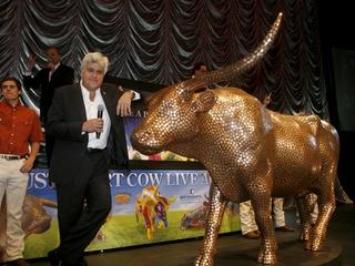 Austin Photo: Kevin_CowParade_Nov 2011_Vince Young Cow 2_Leno