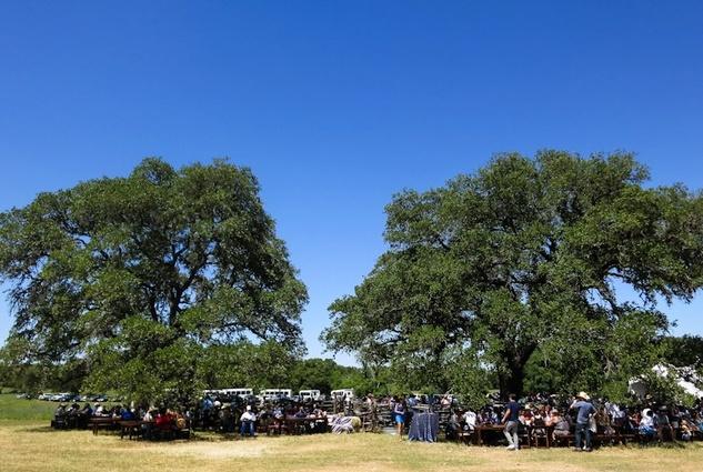 Guests gather at Bridges Ranch for Vaca y Vino