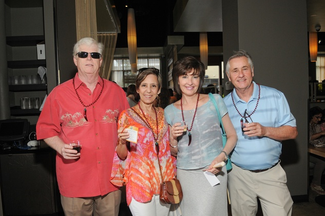 Tom and Marta Mohan, from left, and Kathryn and Peter Moore at the Curry Crawl May 2014