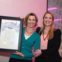 7 Sallie Krawcheck, left, and Jennifer Roosth at the Ellevate launch March 2015