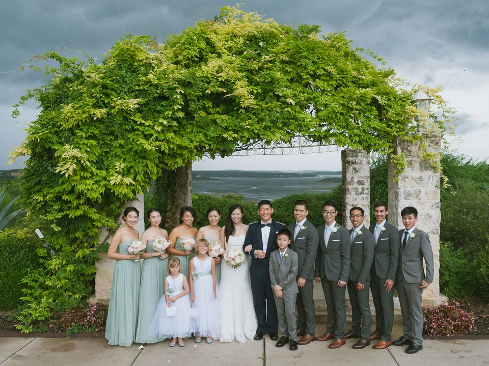 Pauline and Dayle Chang wedding parties