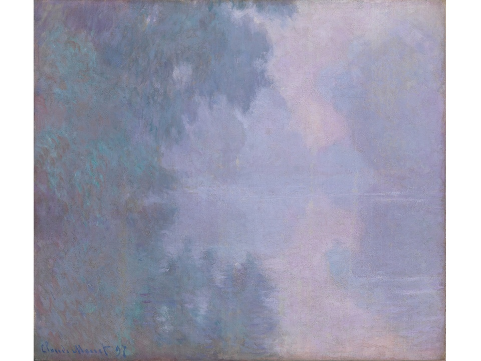 MFAH Monet and the Seine Impressions of a River October 2014 Claude Monet - Morning on the Seine, Giverny