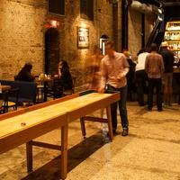 OKRA Charity Saloon bar with customers