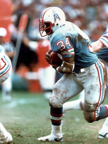 Earl Campbell with the Oilers