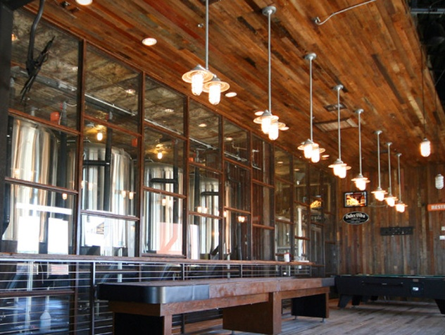 exterior of Oasis Texas Brewing Company brewery
