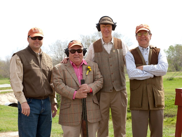 News_MFAH Sporting Clays_March 2012_Brent Anderson_John Kelsey_John Poindexter_Jeff Parsons