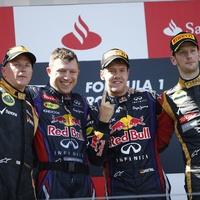 Sebastian Vettel won his