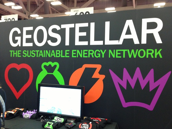 Geostellar&#39;s table at the tradeshow