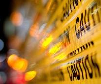 police tape caution police lights