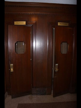 Houston Club auction, January 2013, Mahogany Telephone Booth Doors