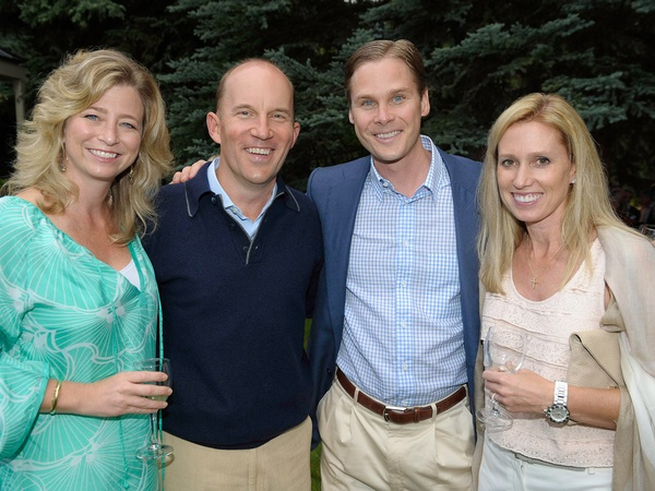 MD Anderson in Aspen, July 2012, Laura McCullough, Andrew McCullough, Wil Van Loh, Jennifer Van Loh