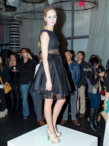 model, the fashionistas,  Danh Ta and Lucy Dang
