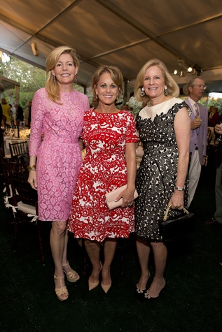 Michelle Foutch, from left, Ann Doggett and Laurie Liedtke at the Bayou Bend Garden Party March 2015