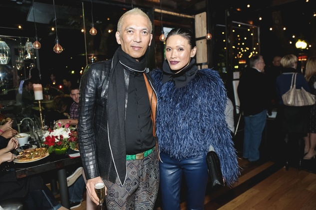 Marc and Duyen Nguyen at the Page Parkes & Ruggles Black Holiday Soiree December 2014