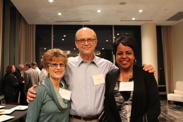 132 Betty Bauer, from left, Fred Krasny and Desirray Cusic at the Jane's Due Process fundraiser February 2015