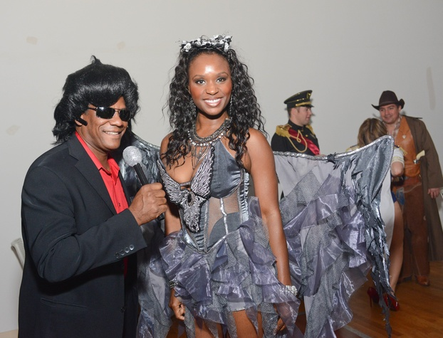 Terrance Hobdy and Rosalind Fontenot at the Brasserie 19 Halloween party October 2014