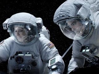 Sandra Bullock and George Clooney in Gravity