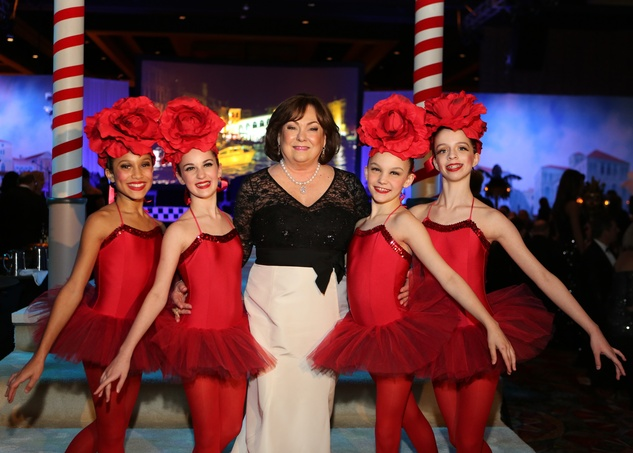Rose Cullen with ballerinas at the Winter Ball January 2014