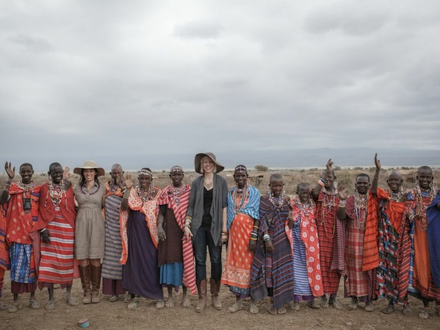 Raven + Lily Co founders Kirsten Dickerson and Sophia Hirokawa Lin in Africa