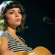 Norah Jones, guitar, striped shirt