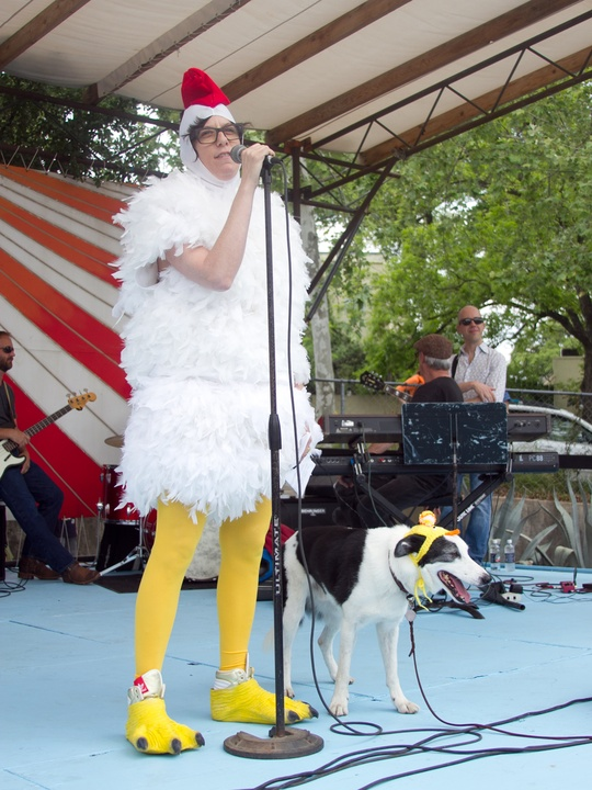 Easter Pet Parade on South Congress 2014 Isadora McKeon Steve Chicken Suit