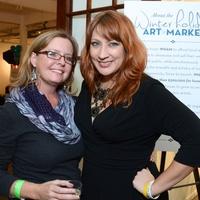 8, WHAM preview party, November 2012, Rachel Schipul, Jenni Rebecca Stephenson