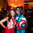 2 Alex Blair, left, and Karina Barberi at the Bone Bash Halloween party October 2013