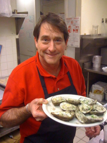 Nix at Danton's Houston with oysters