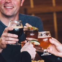 craft beer cocktails toasting at Blatt Beer Table