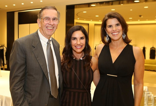 Dr. Bob Gower, from left, Rachel Gower and Lisa Malosky at the CancerForward Key To The Cure Kick-off October 2014
