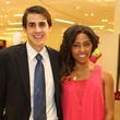 Owen Carson and Maya Kirk at the CancerForward Key To The Cure Kick-off October 2014