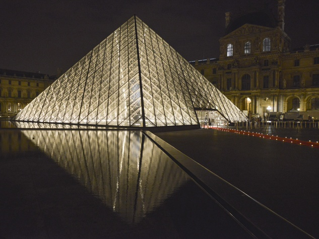 Pyramid at Louvre party June 2013