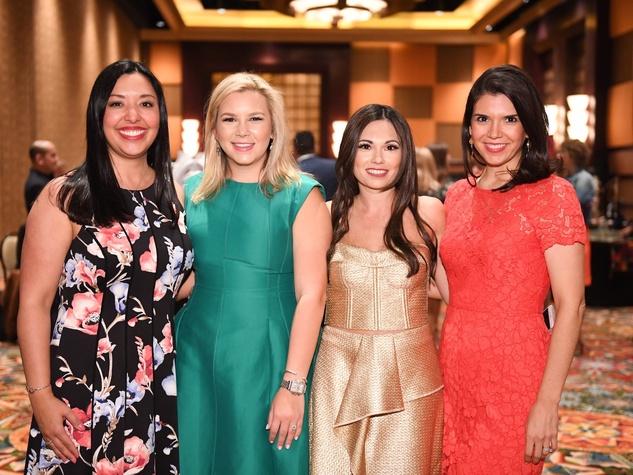 Latin Women Initiative Luncheon, Monica Reyna Casiano, Mari Trevino, Michele Leal Farah and Gloria Bounds