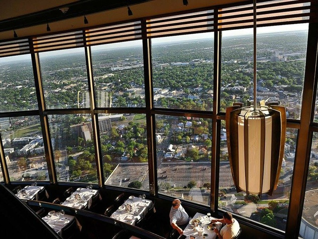 Chart House Sits At 750 Feet Offering Unparraleled Views Of San Antonio