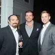 Carlos Sandoval, from left, John Cone and Matt McMillan at the JDRF gala kick-off party January 2014