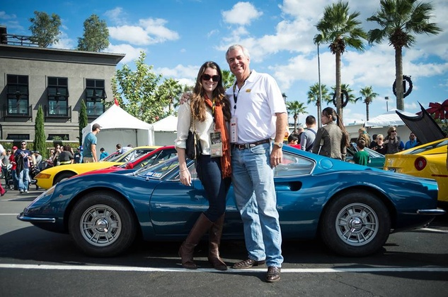Andy Fish and Kathryn Fish at the Ferrari Festival 2013