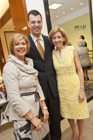 Houston Symphony tea at Saks, June 2012, Linda Dewhurst, Mark C. Hanson, Christina Hanson