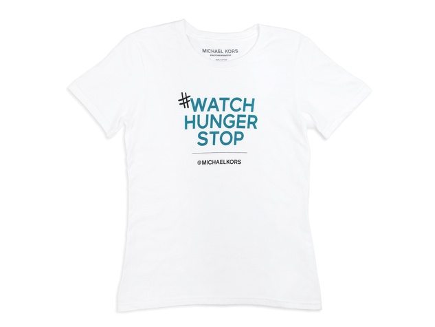Michael Kors Watch Hunger Stop World Hunger campaign T-shirt October 2013 THIS HORIZONTAL