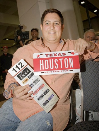 Great Plate Auction, Houston, winning plate, license plate, January 2013