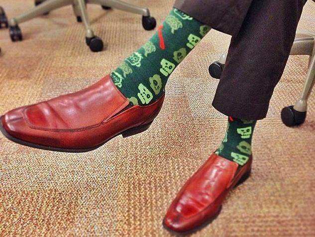 Zombie socks from Foot Cardigan