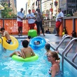 A dumpster pool on Park Avenue in New York City